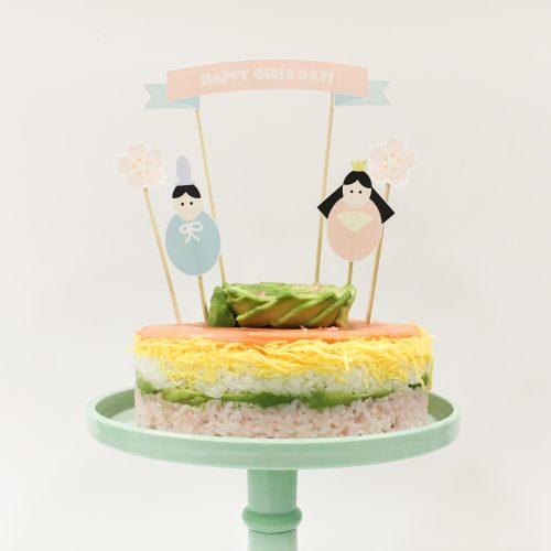 ひな祭りパーティーに!かわいいちらし寿司ケーキトッパーを無料ダウンロード<br>|by ARCH DAYS編集部