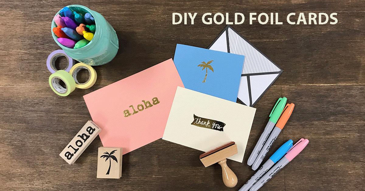 たった5分で美しいゴールドプリント!箔押しサンキューカードの作り方<br>|by ARCH DAYS編集部