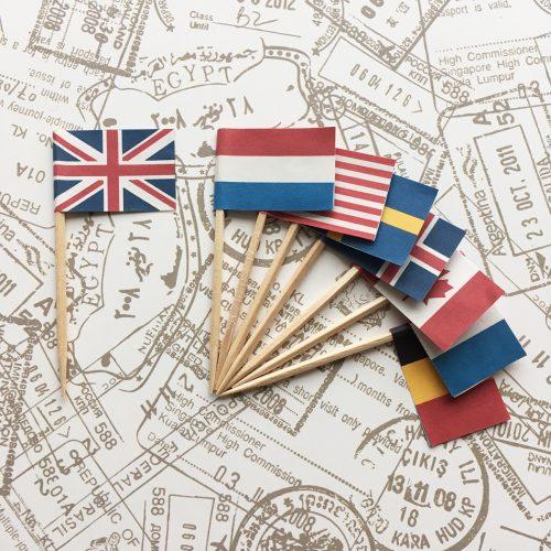テンプレート無料配布♪旅行テーマのパーティーに!国旗パーティーピックの作り方<br>|by ARCH DAYS編集部