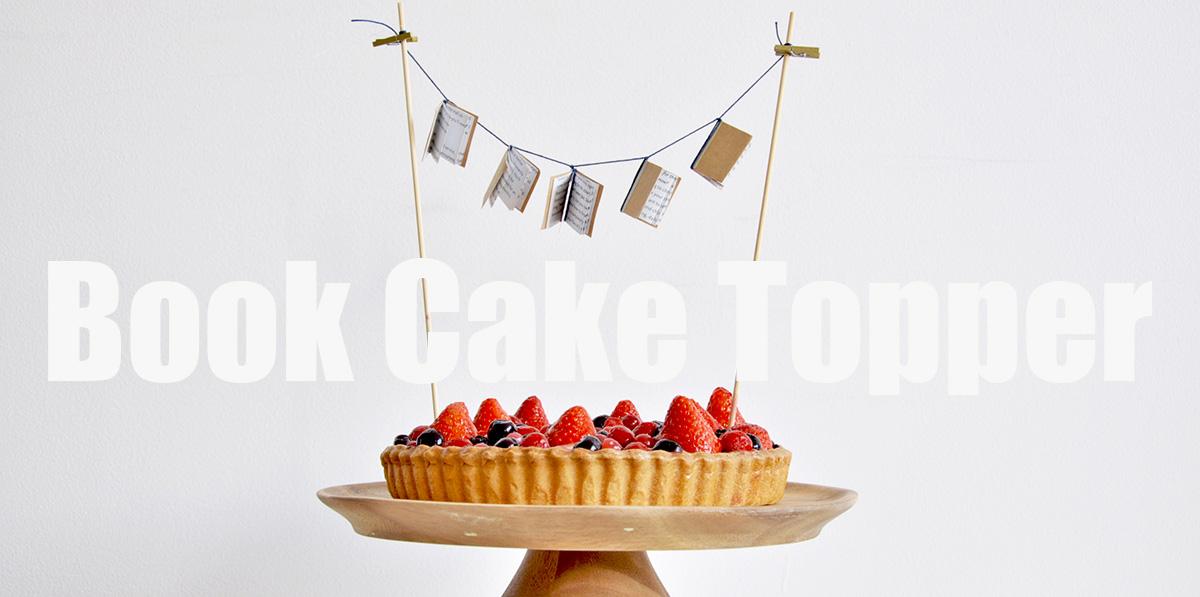 ミニチュアブックを使ったオリジナルケーキトッパーの作り方