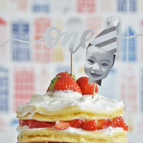 1歳のお誕生日に。オリジナルケーキトッパーの作り方【無料テンプレートつき】<br>|by ARCH DAYS編集部