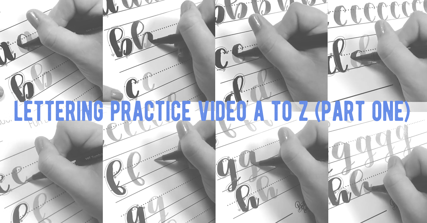 動画でわかるブラッシュレタリングA to Z<小文字編 Part 1>|by Tombow USA