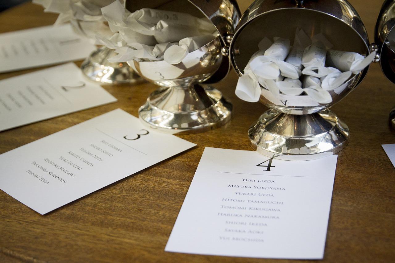 結婚式_エスコートカード