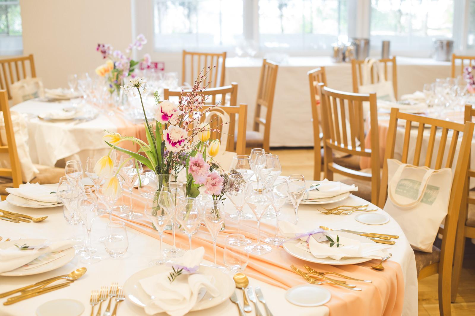 結婚式_フローラルウェディング_ゲストテーブル