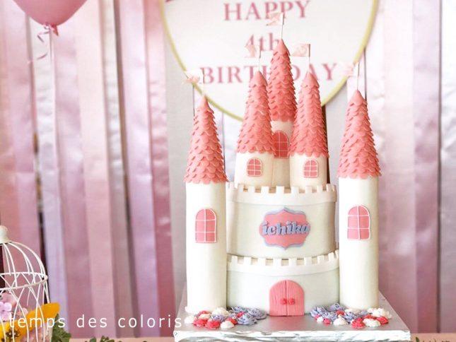 オーダーケーキ_バースデーケーキ_誕生日_ケーキ_お城ケーキ