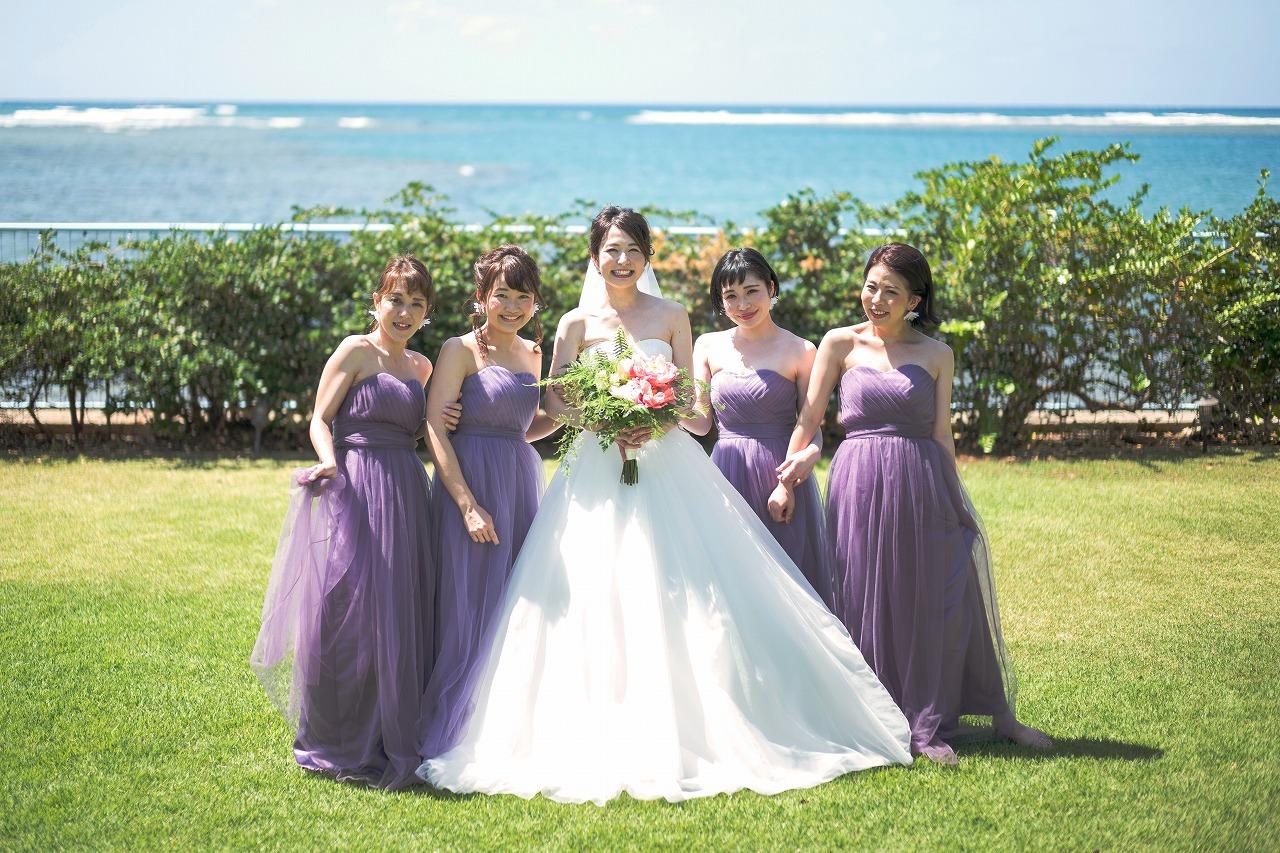 ハワイ_結婚式_ガーデンウェディング_ブライズメイド