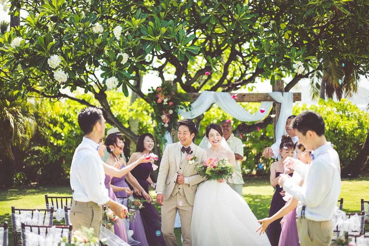 ハワイ_結婚式_ガーデンウェディング