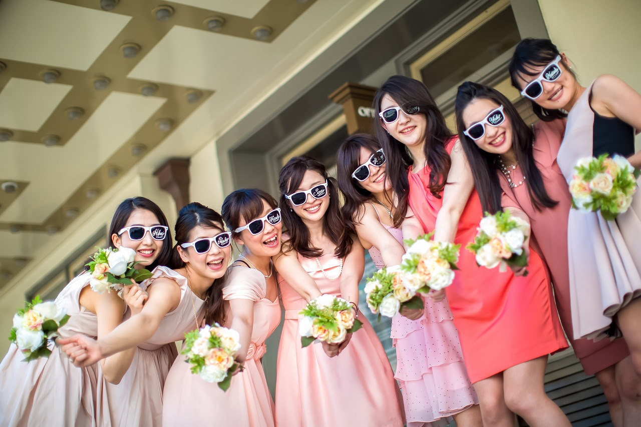 wedding_hawaii_pink_ブライズメイド