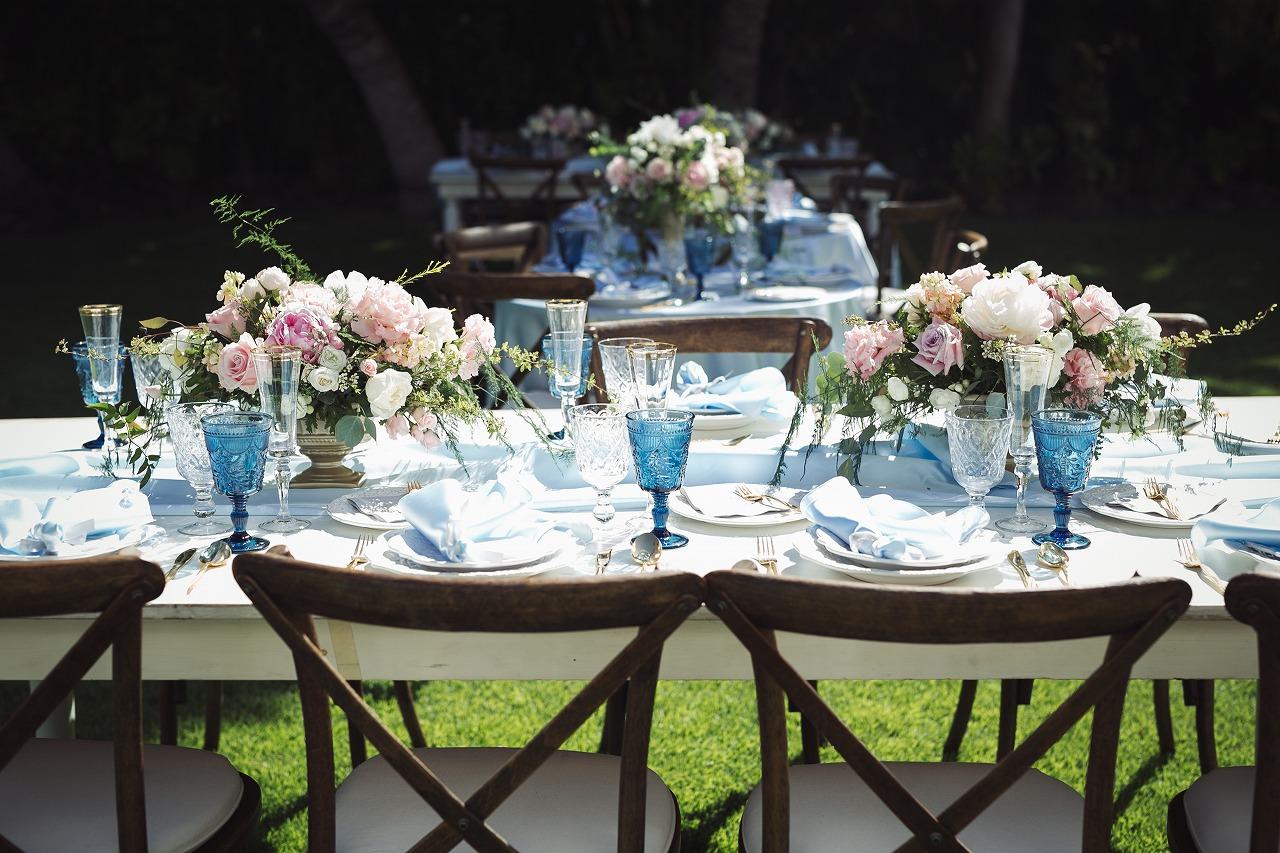 結婚式_ガーデンウェディング_会場装飾