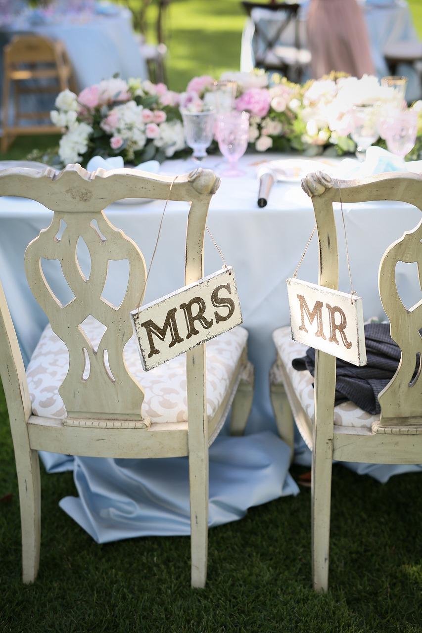 結婚式_チェアサイン_ガーデンウェディング