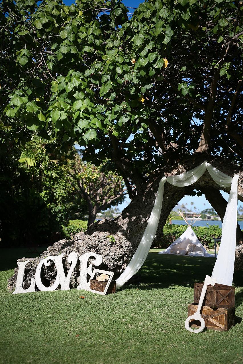 結婚式_会場装飾_ガーデンウェディング