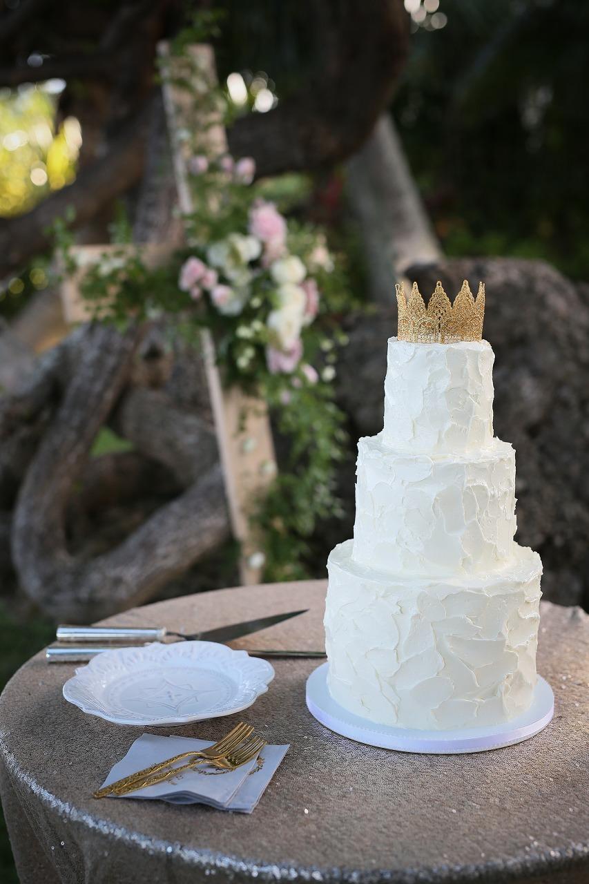 結婚式_ウェディングケーキ_ガーデンウェディング