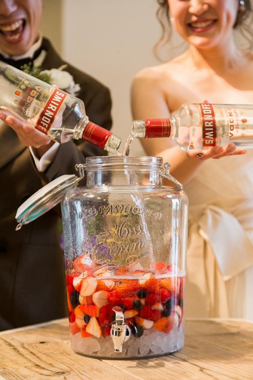 結婚式_演出_果実酒作り