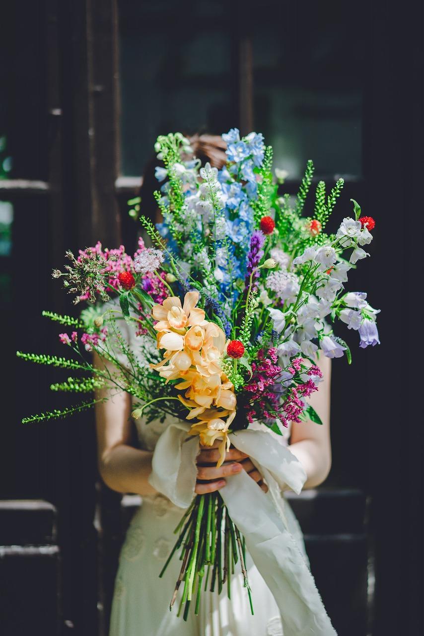 結婚式_ブーケ_ドレス