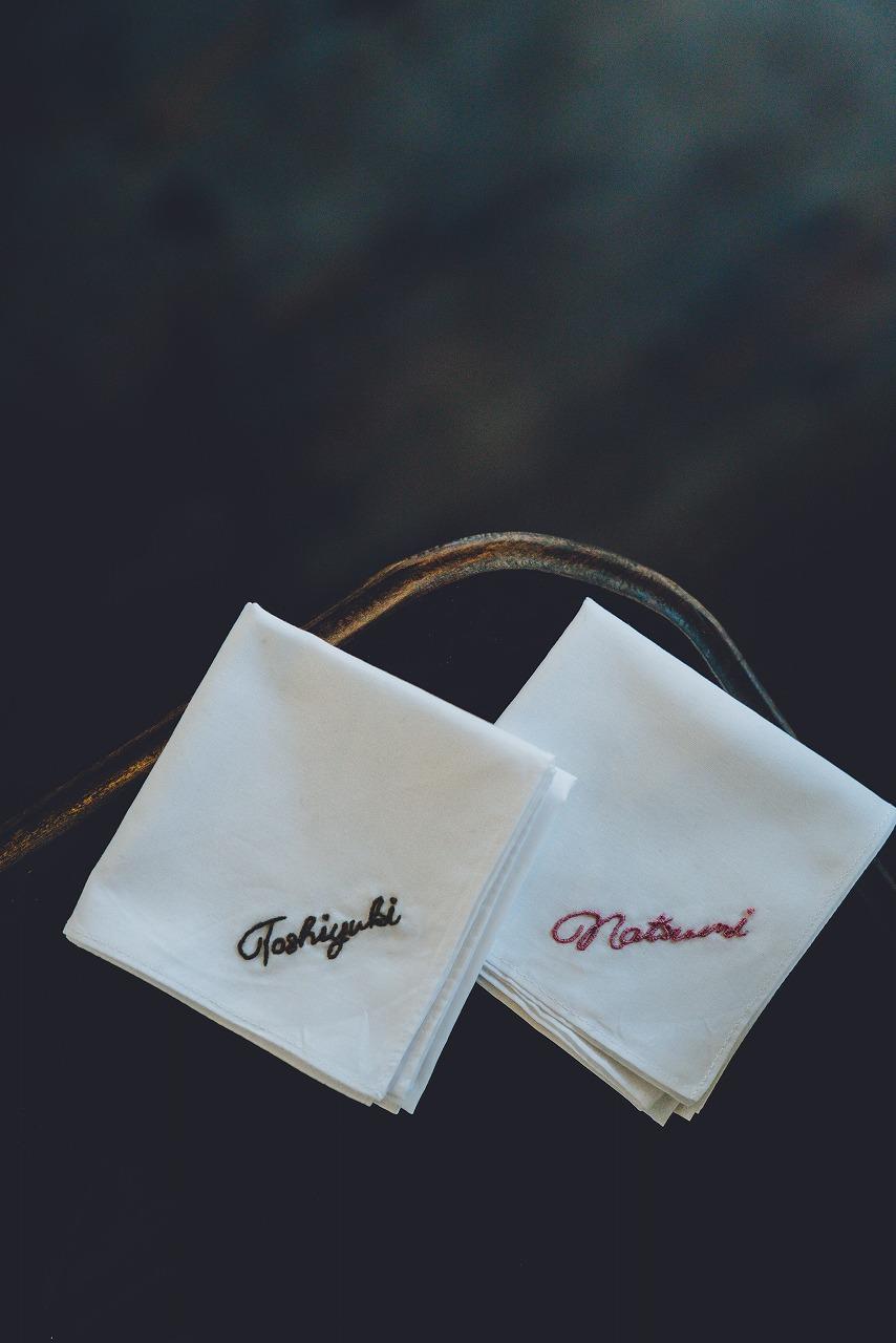 結婚式_ハンカチ_刺繍