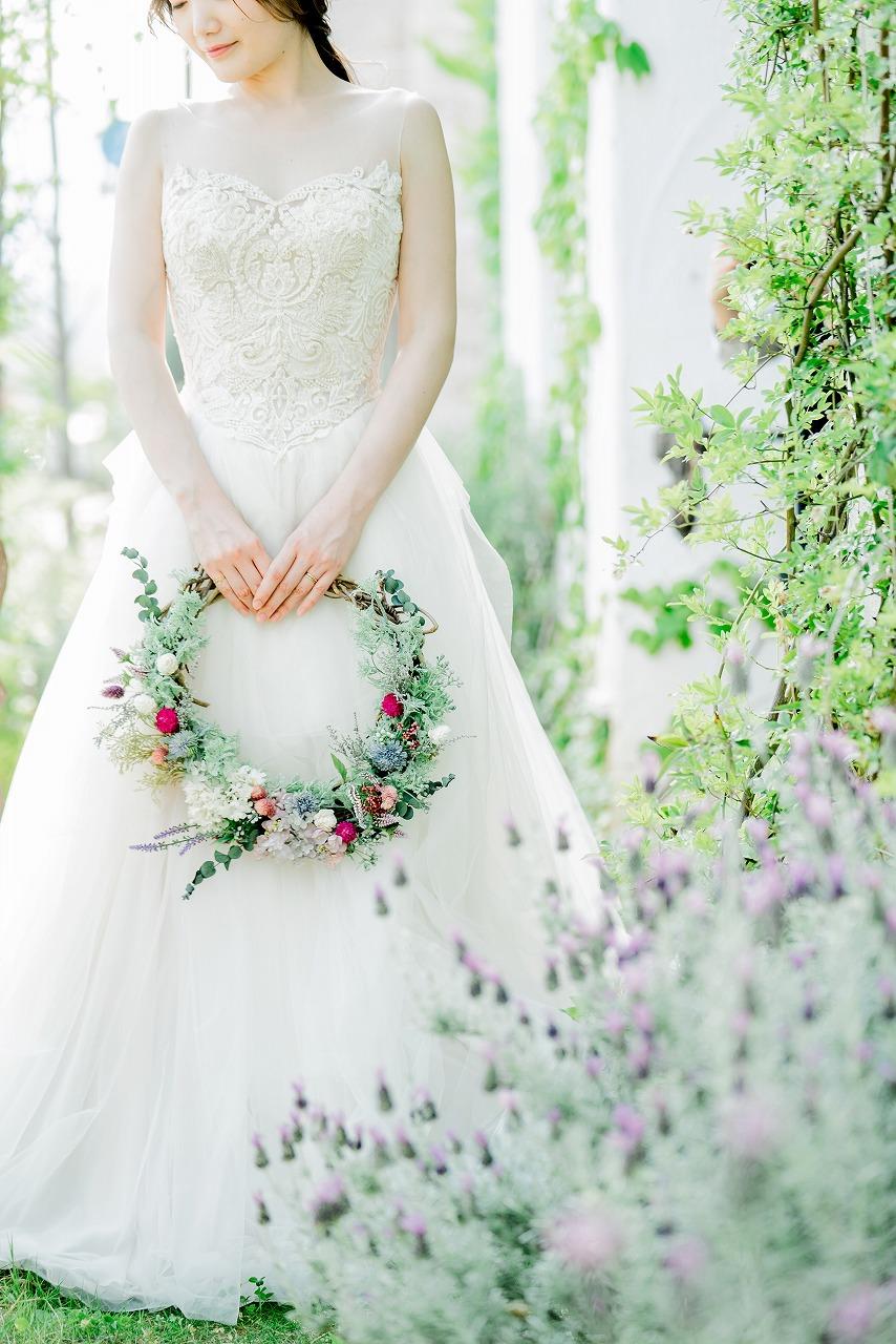 結婚式_リースブーケ