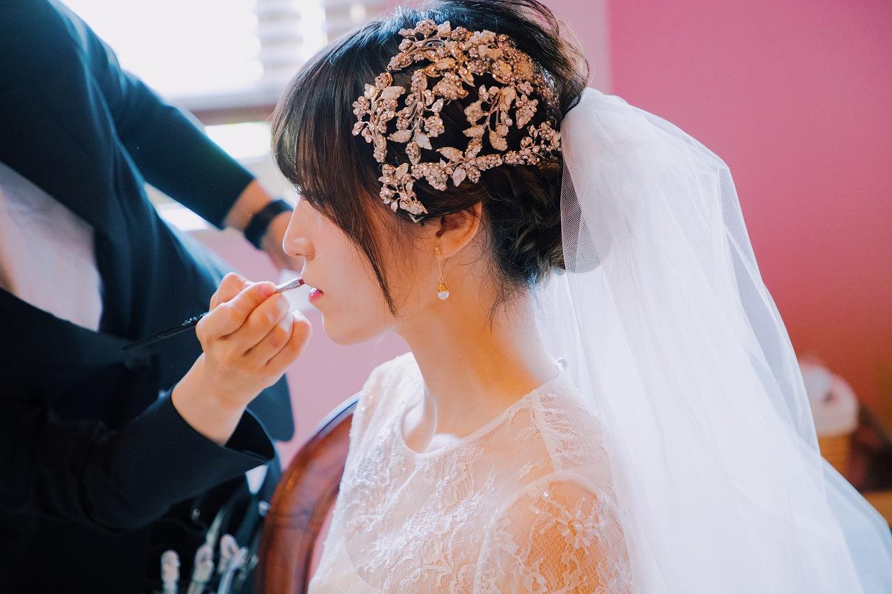 結婚式_お仕度ショット