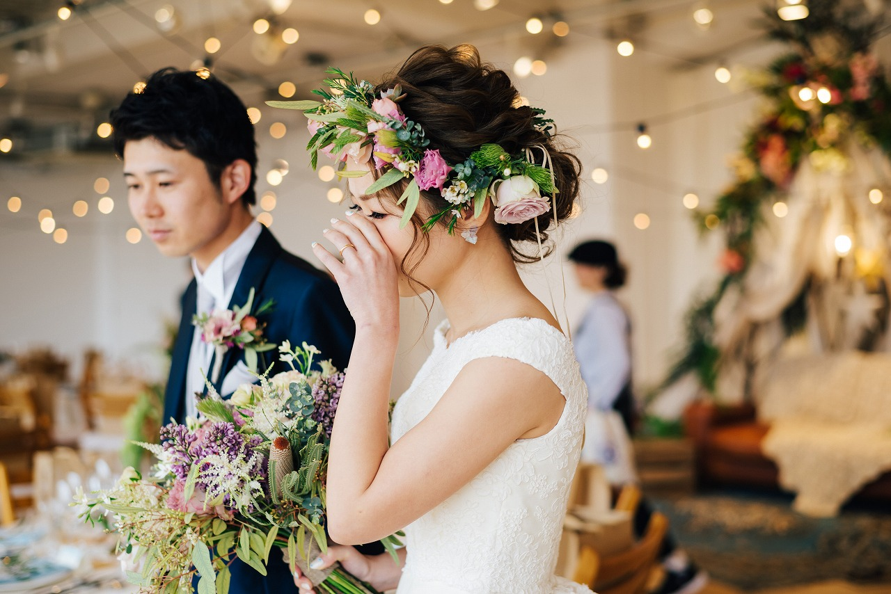 結婚式_髪型_会場装飾