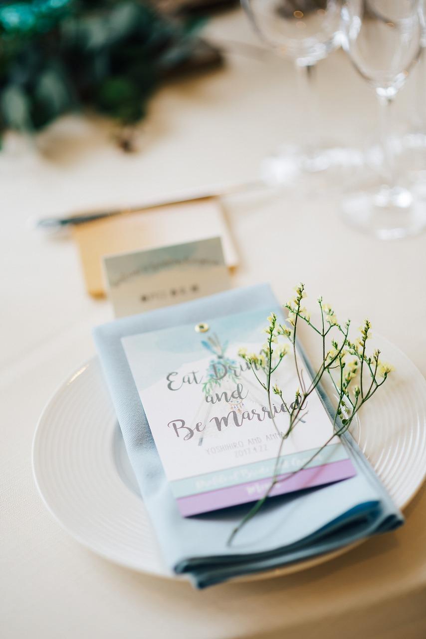 結婚式_ペーパーアイテム_メニュー表