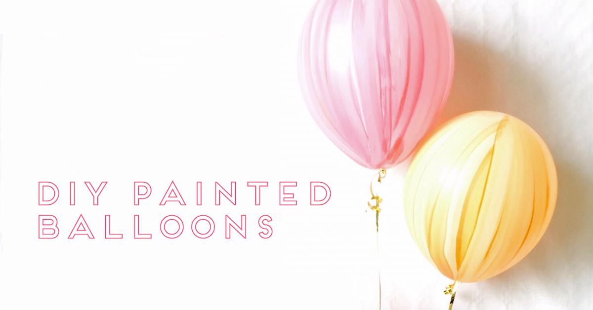 カラーは自由自在♪オリジナルのペイントバルーンの作り方<br> En effet on fête! by mon_petit_lion