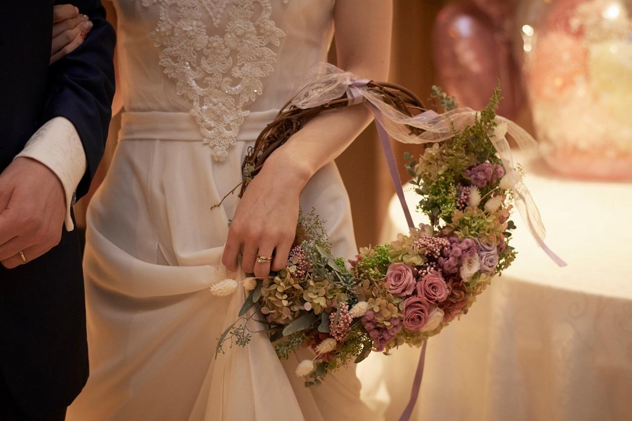 結婚式_リースブーケ_かわいい