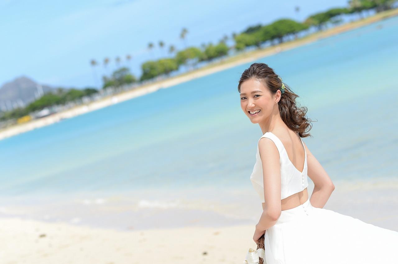 結婚式_ハワイ_ロケーションフォト_ブライズメイド_ビーチ