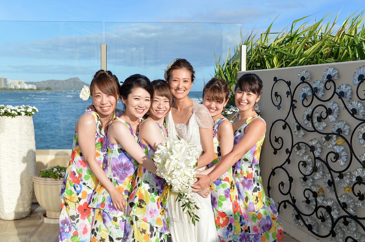 結婚式_ハワイ_ロケーションフォト_ブライズメイド