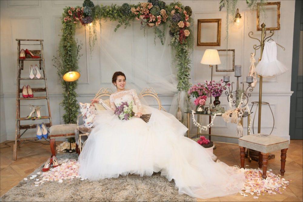 結婚式_TRUNK_フローラルウェディング_かわいい_フォトブース