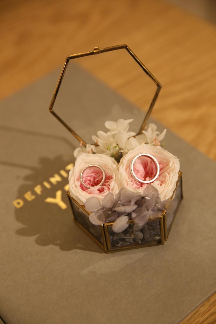 結婚式_TRUNK_フローラルウェディング_かわいい_リングピロー