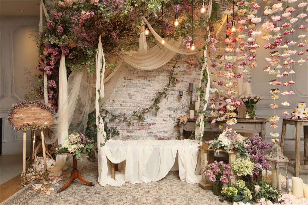 結婚式_TRUNK_フローラルウェディング_かわいい_高砂