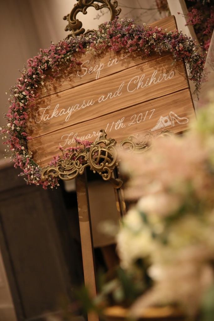 結婚式_TRUNK_フローラルウェディング_かわいい_ウェルカムボード