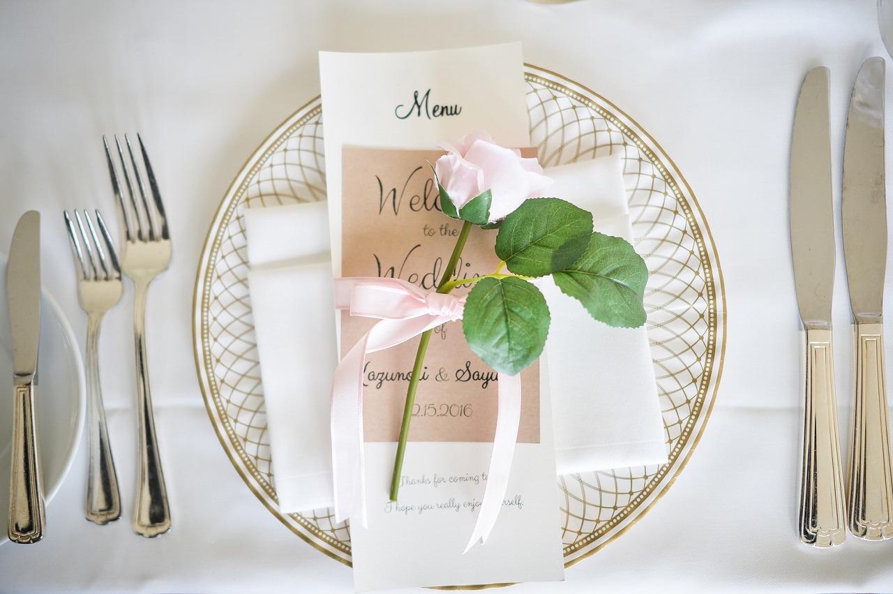 結婚式_ハワイ_メニュー表