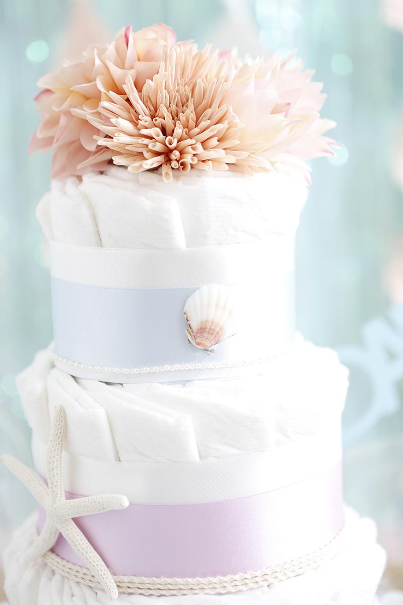 ベビシャワーのおむつケーキ