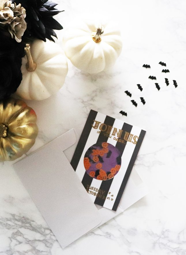 ハロウィンパーティーの手作りカード