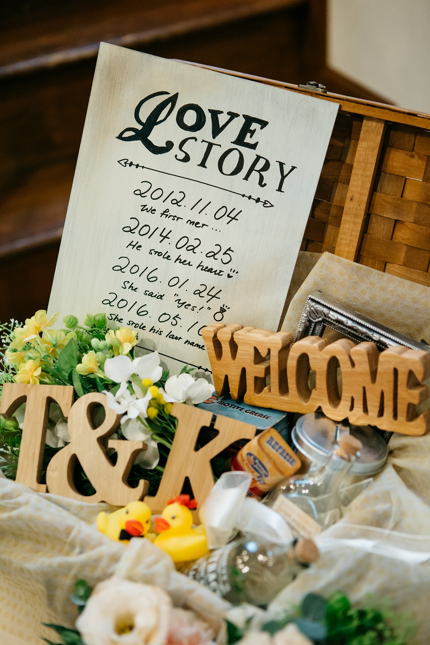 結婚式_ウェルカムスペース_かわいい