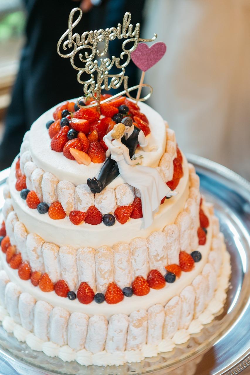 結婚式_ウェディングケーキ_3段