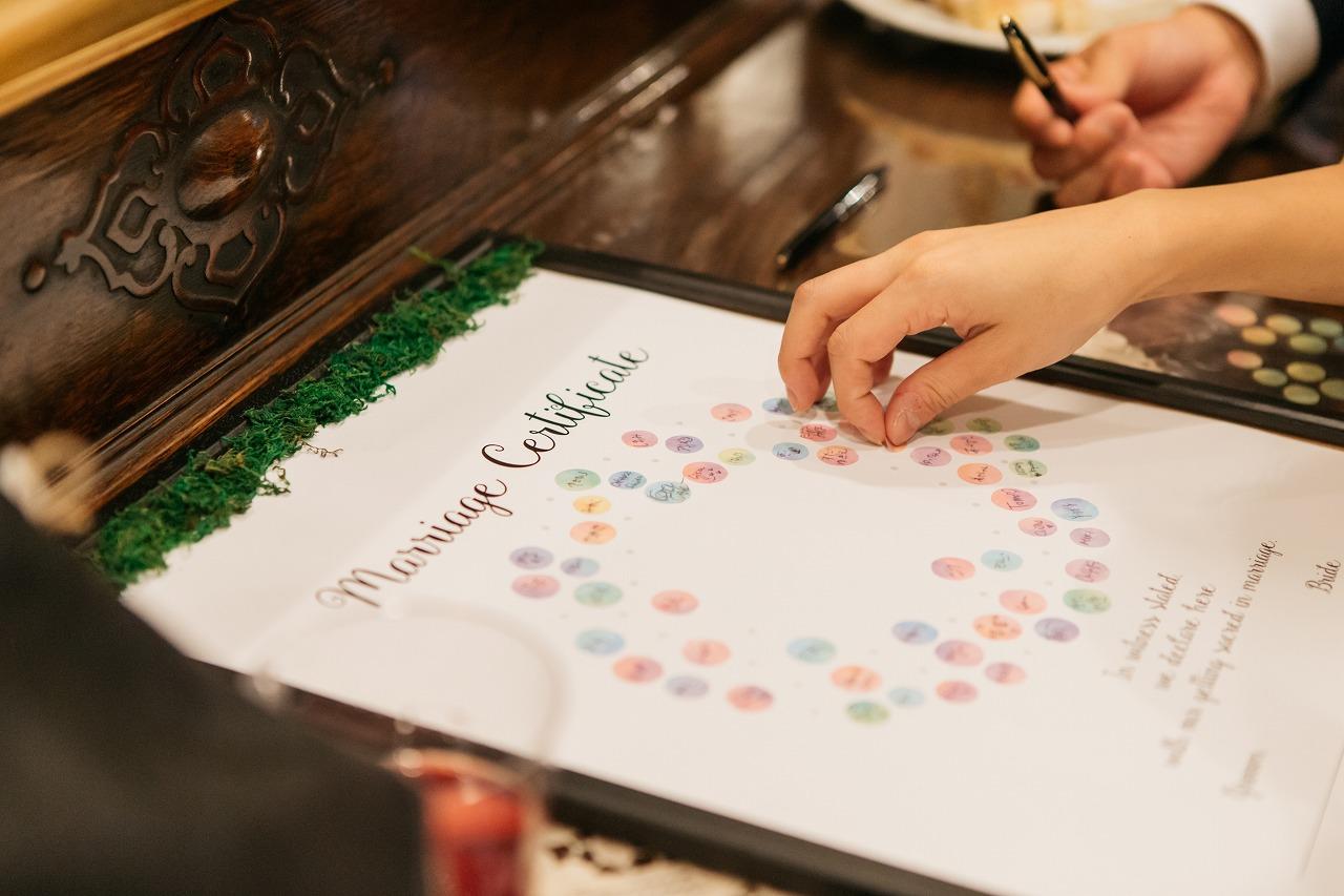 結婚式_結婚証明書_かわいい