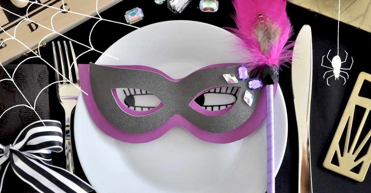 ハロウィンの仮装や装飾に!簡単マスカレードマスクの作り方【無料テンプレート】