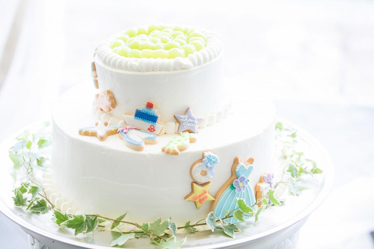 結婚式_ウェディングケーキ_アイシングクッキー