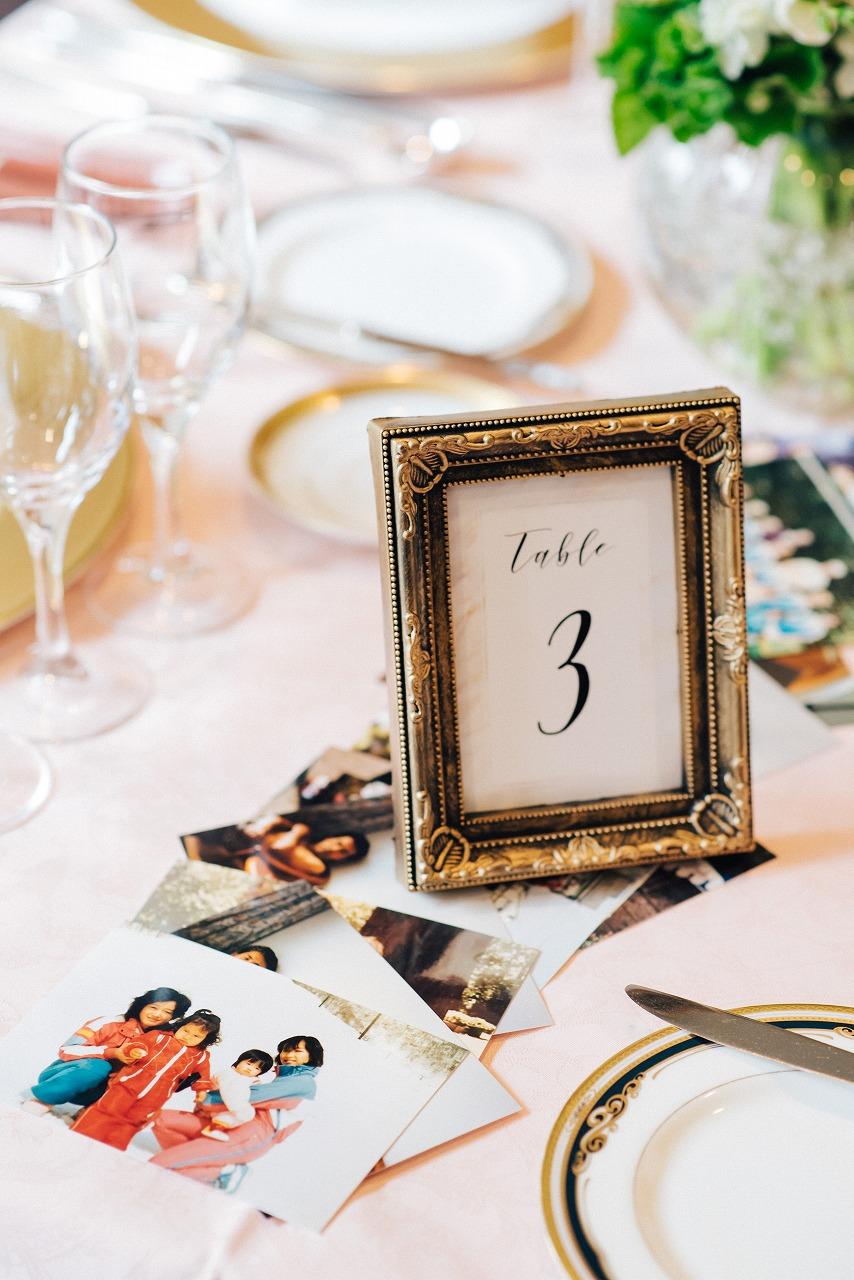 結婚式_ガーデンウェディング_国際結婚_テーブルナンバー