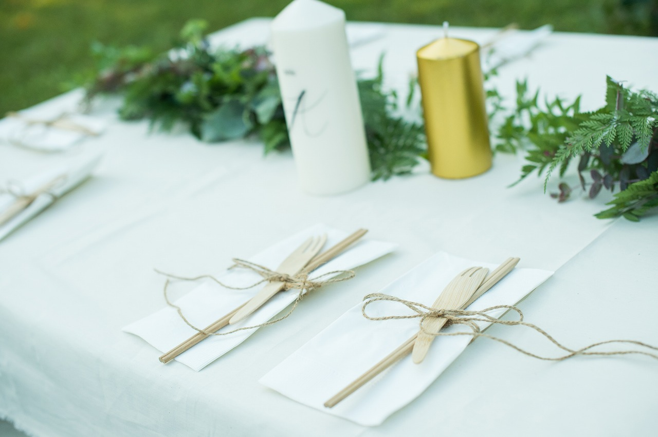 結婚式_ガーデン_テーブルコーディネート