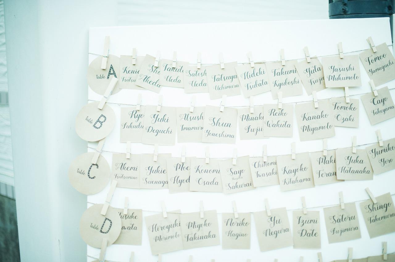 結婚式_ガーデン_エスコートカード