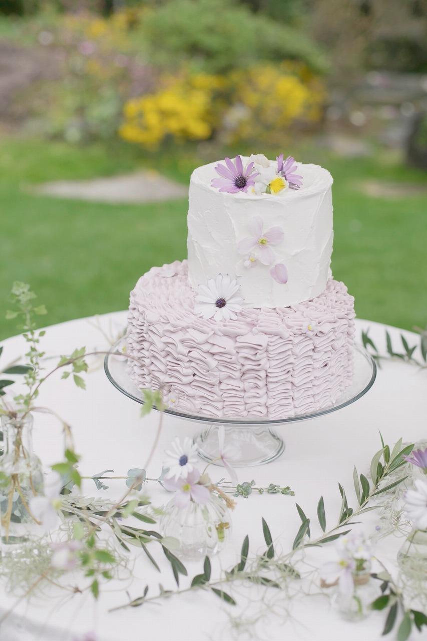 結婚式_ウェディングケーキ_かわいい