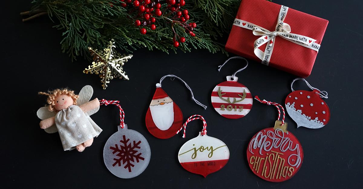 クリスマスの飾りつけに!プラ板でつくるオーナメント