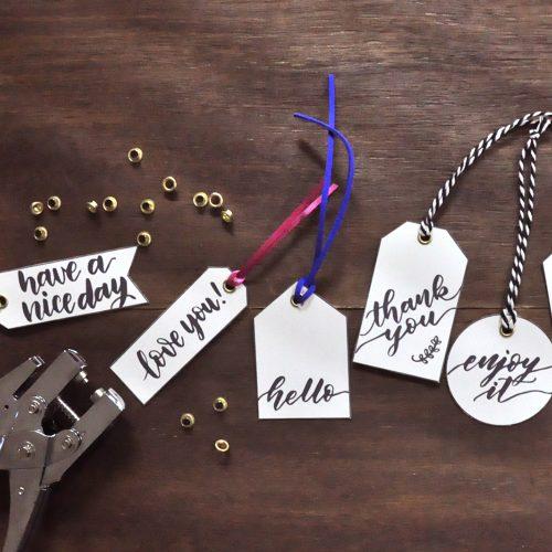ハンドレタリングのワークショップ開催!手作りギフトタグを無料配布<br> |by danae.lettering