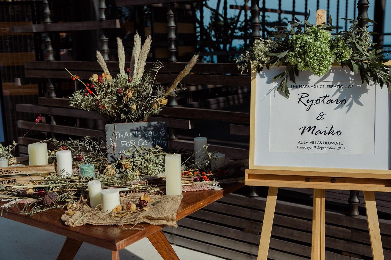結婚式_ウェルカムスペース_ウェルカムボード