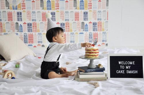 1歳誕生日のケーキスマッシュ