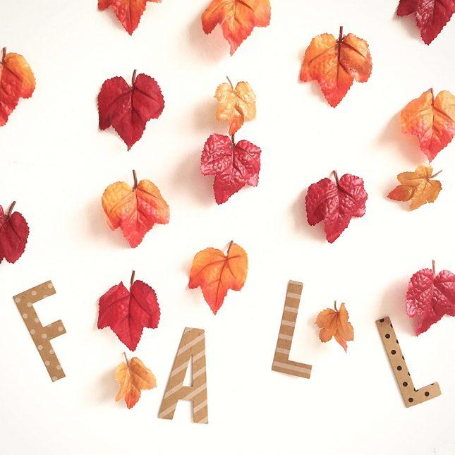 秋の落ち葉ガーランド