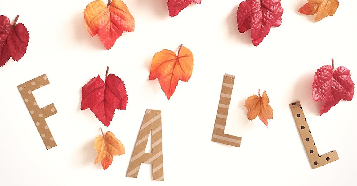 フラワーガーランドも落ち葉を使えば秋仕様に♪リーフガーランドの作り方