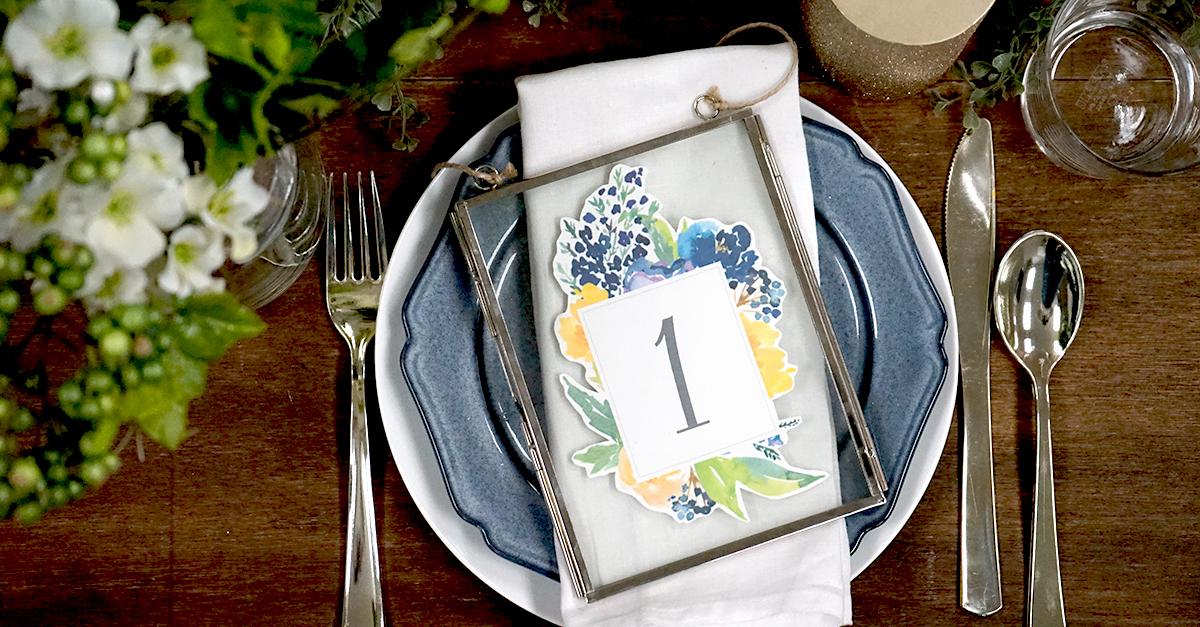 結婚式で使いたい!無料テンプレートで簡単手作りテーブルナンバー